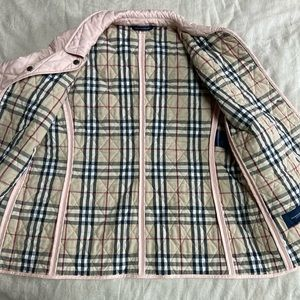 Burberry quilted light pink jacket